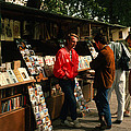 Bookstalls On Left Bank by Carl Purcell