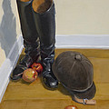 Boots Apples And Hard Hat by Jane  Cozart