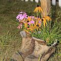 Boots In Bloom by Victoria  Dauphinee