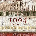 Bordeaux Blanc Label 2 by Debbie DeWitt