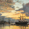 Bordeaux In The Harbor by Eugene Louis Boudin