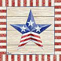 Bordered Patriotic Barn Star II by Paul Brent
