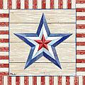 Bordered Patriotic Barn Star III by Paul Brent
