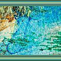 Borderized Abstract Ocean Print by Marie Jamieson