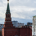 Borovitskaya Tower Of Moscow Kremlin by Alexander Senin
