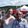 Borsos Anna Ruzsan With Sir Stirling Moss 2012 by Anna Ruzsan