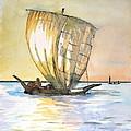 Boso Sailing Boat by Jutta Bluehberger