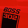 Boss 302 Emblem On A Car by Panoramic Images
