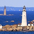 Boston And Graves Light by Patricia Abbate