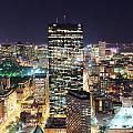 Boston At Night by Songquan Deng