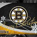 Boston Bruins Christmas by Joe Hamilton