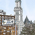 Boston Custom House Tower by Fred Larson