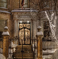 Boston Doorway In Snow - Back Bay by Joann Vitali