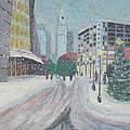 Boston First Snow by Scott W White