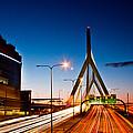 Boston Garden And Bunker Hill Bridge  by John McGraw