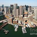 Boston Harbor And Boston Skyline by Bill Cobb