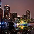 Boston Harbor At Night  by John McGraw