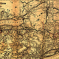 Boston Hoosac Tunnel And Western Railway Map 1881 by Mountain Dreams
