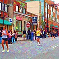 Boston Marathon Mile Twenty Two by Barbara McDevitt
