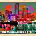 Boston Massachusetts Skyline  by Marvin Blaine