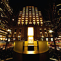 Boston - Night At Post Office Square by Mark Valentine