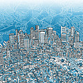 Boston Panorama Abstract 2 by Bekim Art