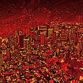 Boston Panorama Red by Bekim Art