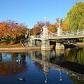 Boston Public Garden Autumn by Toby McGuire