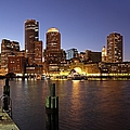 Boston Skyline And Fan Pier by Juergen Roth