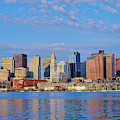 Boston Skyline And Harbor, Massachusetts by Panoramic Images