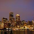 Boston Skyline Blue Hour by Stewart Mellentine