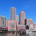 Boston Skyline Over Water by Songquan Deng