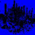 Boston Skyline Paint Splash 2 by Brian Reaves