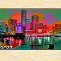 Boston Skyline Painting by Marvin Blaine