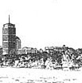Boston Skyline Sketch by C H Apperson