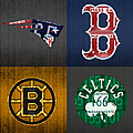 Boston Sports Fan Recycled Vintage Massachusetts License Plate Art Patriots Red Sox Bruins Celtics by Design Turnpike