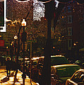 Brisk Walk On Hanover Street - Boston by Joann Vitali