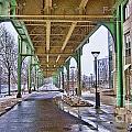 Boston Streetcar Overpass by Douglas Barnard