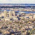 Boston Usa Elevated View by Liz Leyden