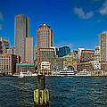 Boston Waterfront Skyline by Robert Mitchell