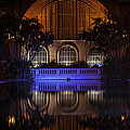 Botanical Building Reflection At Night by Lee Kirchhevel