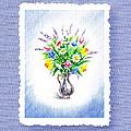 Botanical Impressionism Watercolor Bouquet by Irina Sztukowski