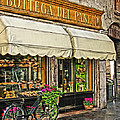 Bottega Del Pane Italian Bakery And Bicycle by Greg Matchick