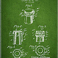 Bottle Cap Fastener Patent Drawing From 1907 - Green by Aged Pixel