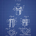 Bottle Cap Fastener Patent From 1907- Blueprint by Aged Pixel