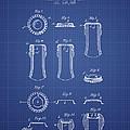 Bottle Cap Patent 1899- Blueprint by Aged Pixel