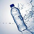 Bottle Water And Splash by Johan Swanepoel