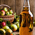 Bottled Cider With Apples by Amanda Elwell