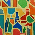Bottles And Glasses 2 by Ana Maria Edulescu