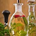 Bottles Of Olive Oil by Amanda Elwell